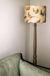 Painted standard lamp